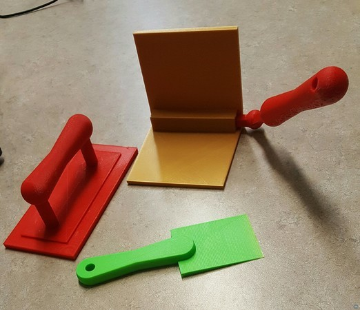 Tool bag gift set (dry wall cornering tool, float, and paint scraper)