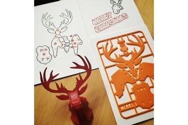 Christmas Cards With Deer On Them