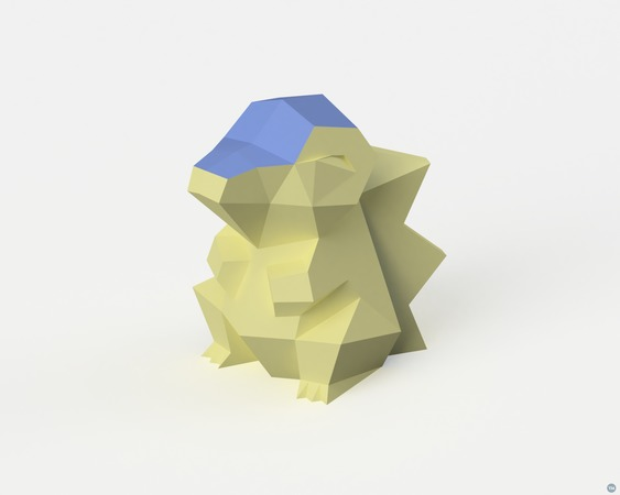 Low-Poly Cyndaquil - Dual Extrusion version