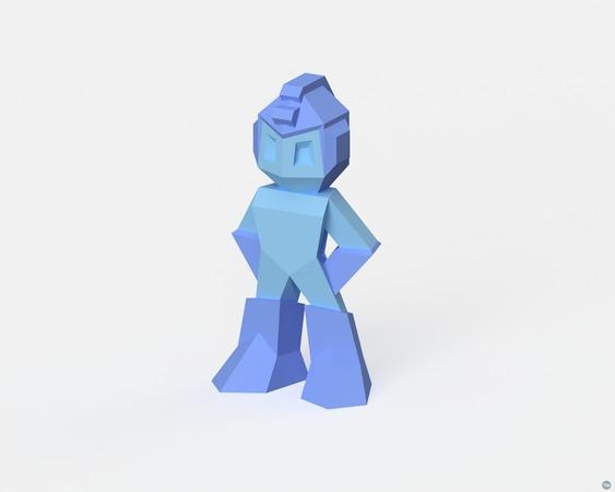 Low-Poly Megaman - Dual Extrusion version