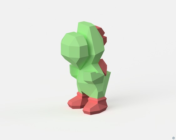 Low-Poly Yoshi - Dual Extrusion version