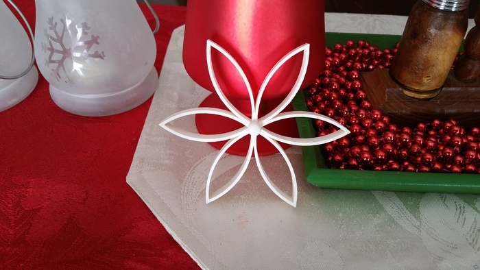 Christmas Flower with Center Ball