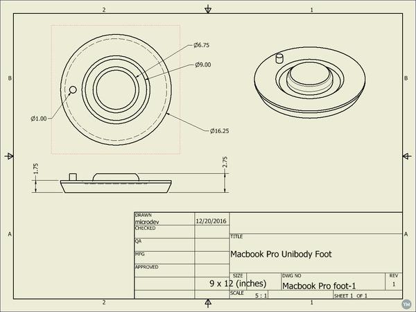 Macbook Pro Unibody Foot