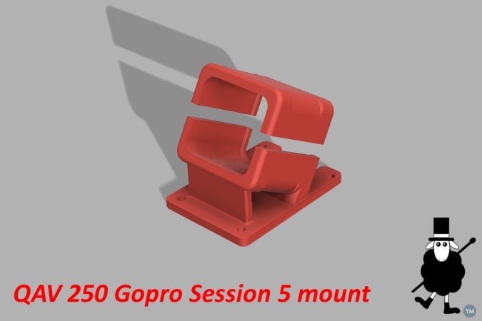QAV250 Gopro Session 5 Mount