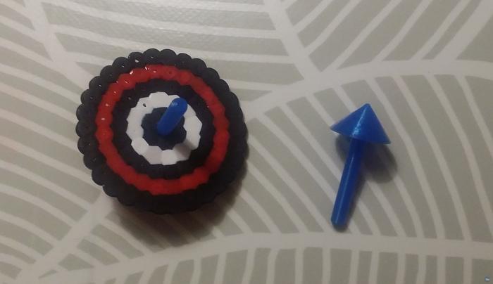 Hama bead spinning top body