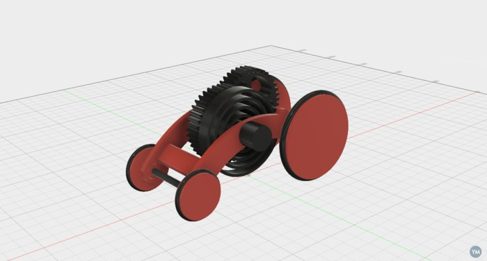 Spring Motor Rolling Chassis Version 2
