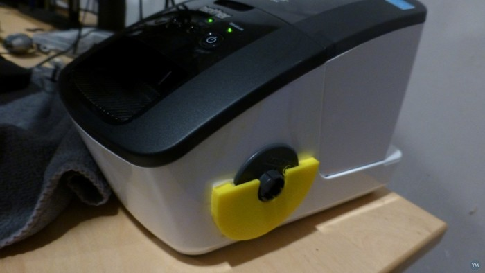Holder for CD label tool for Brother label printer