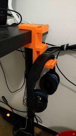 Headphone Hanger for IKEA desk (35-37mm)