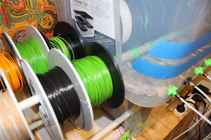 Filament Storage Quick spool change