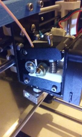 Adaptador extrusor filaflex en Freecad