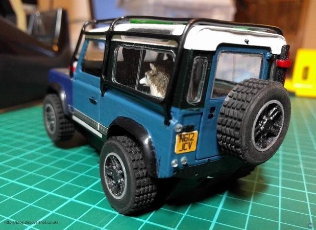 Land Rover slot cars