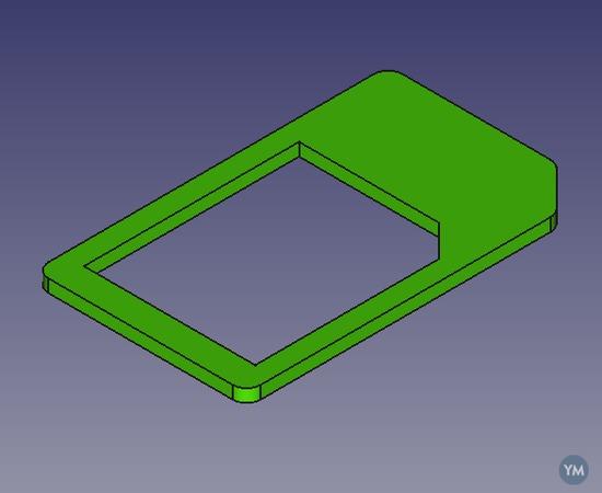 Micro sim to standard size (3FF to 1FF)
