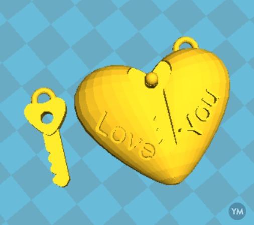 Heart with key Valentine