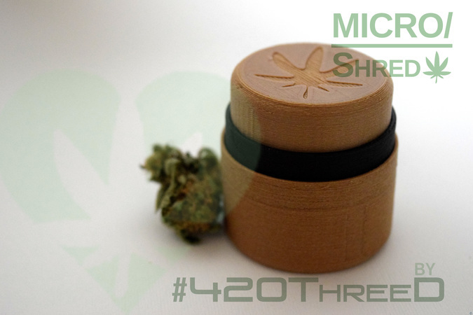 MICRO/shred - by 420ThreeD - Toothless Herb Grinder