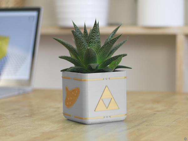 Zelda Planter - Single / Dual Extrusion Minimal Planter