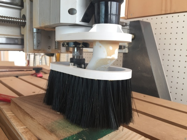 CNC router dust shoe - 80mm spindle - 38mm nozzle
