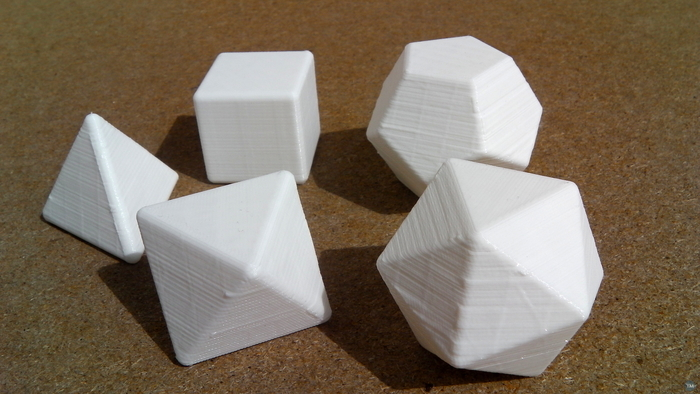 Yet another Platonic solid set