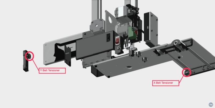 X/Y Belt Tensioner for Printrbot Smalls Kit