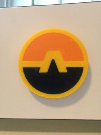 Aquaman Emblem (35 mm Diameter x 3 mm Thick)