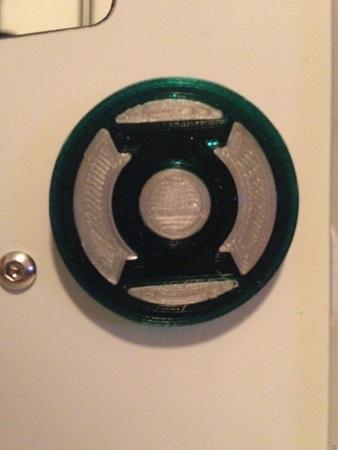 Green Lantern Emblem (35 mm Diameter x 3 mm Thick)