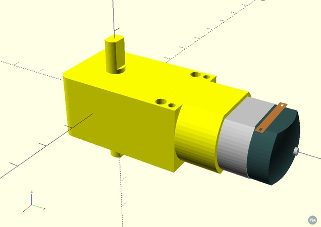 dual axis DC motor with gear reduction placeholder