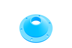 Airhorn mounting plate