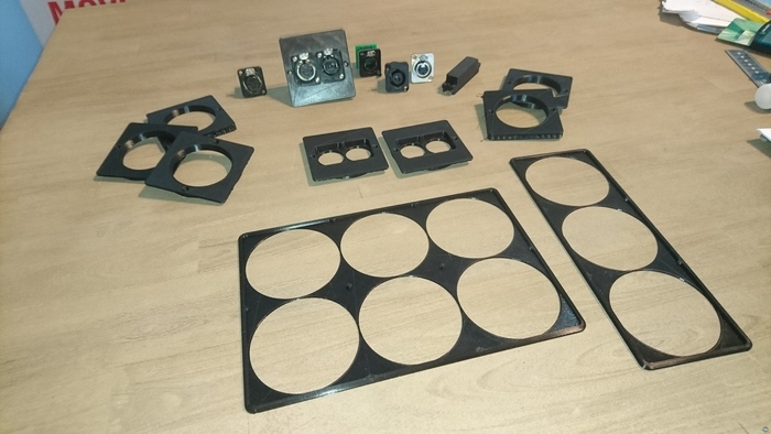 Neutrik d-size chassis connector wall plates and frames