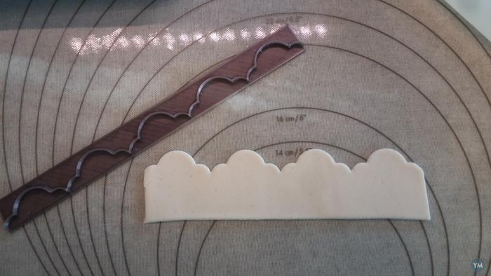 Sugar paste ribbon cutter pattern