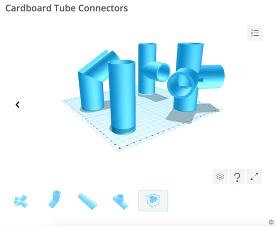 Connectors for Cardboard Tubes