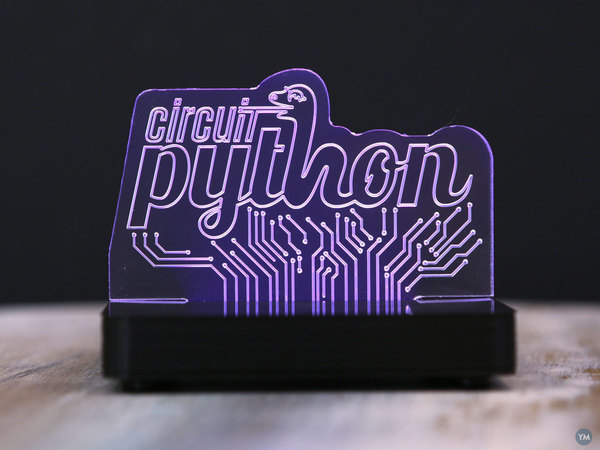 LED Acrylic Sign with NeoPixels and Circuit Python