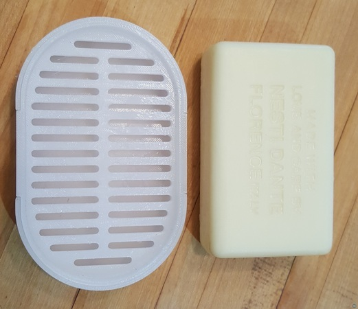 soap dish with drainer