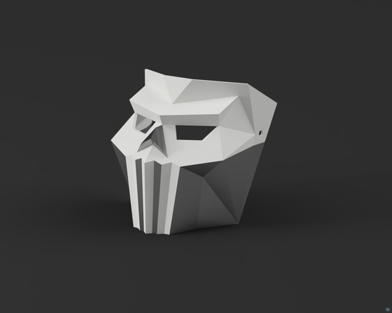 Low-Poly Ghost - Dual Extrusion Halloween Masks