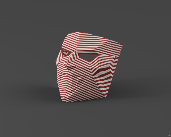 Low-Poly Vampire - Dual Extrusion Halloween Masks