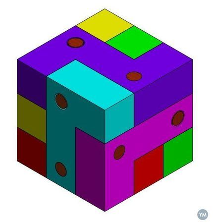 Block and Pin Puzzle