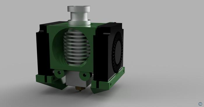 E3D V6 fan shroud designs