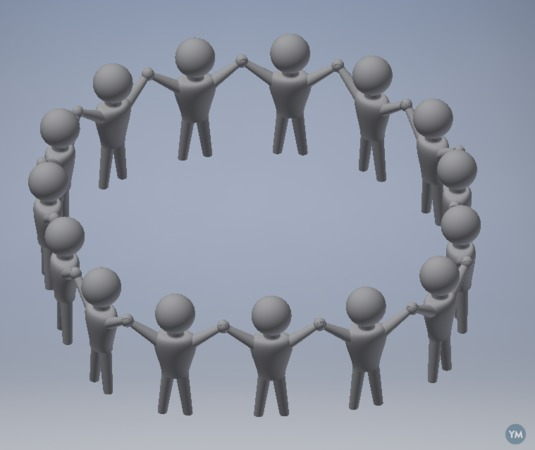 Linking Chain of People