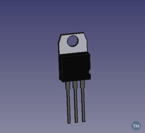 Modelo Freecad regulador de tensión