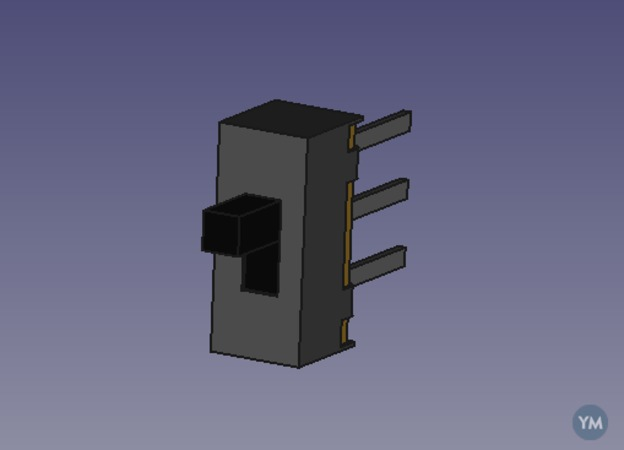 Modelo Freecad interruptor