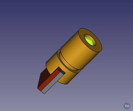Modelo Freecad de diodo Laser
