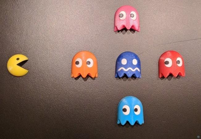Tiny 3D Pacman Fridge Magnets