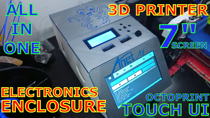 3D Printer Electronics Enclosure - Touch Screen, Mainboard, MOSFET, PSU, Raspberry, Fan.