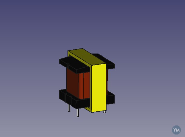 Modelo FreeCad Transformador