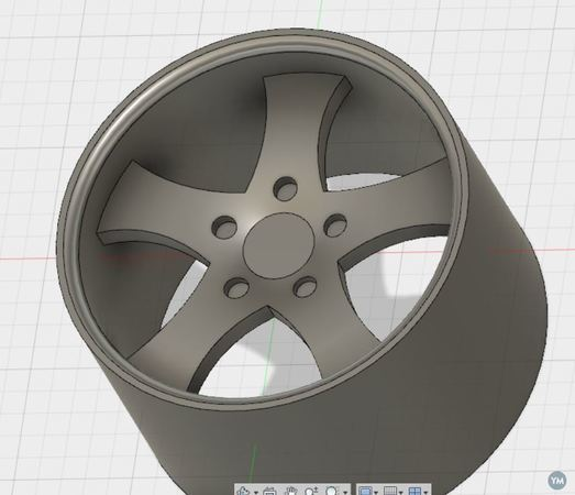 How to draw wheels on Autodesk Fusion 360