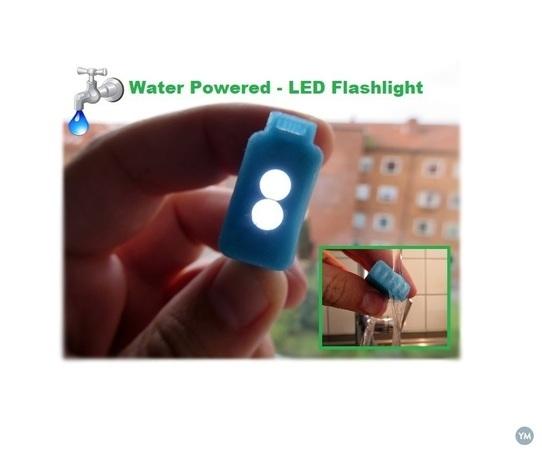 WATER POWERED - LED FLASHLIGHT