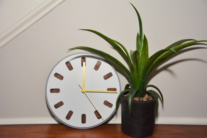 Clock (3D printed mold for concrete or fully 3D printed clock body)