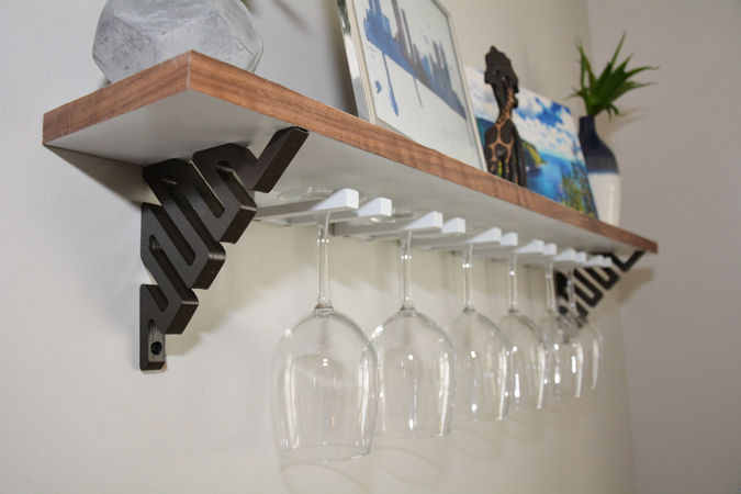 Wine Glass Shelf - 3D Printing & Wood Build