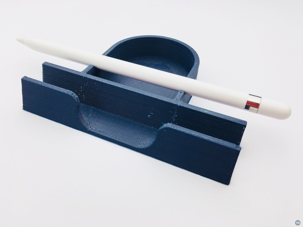 iPad stand with Apple Pencil holder