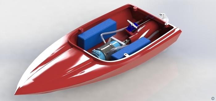 3D printed Jetsprint jet boat V1