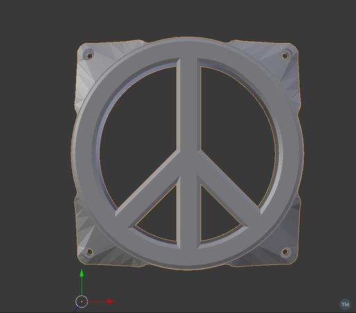 120mm PEACE fan grill