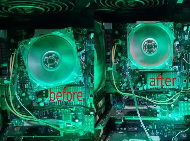 80mm fan angle adjuster